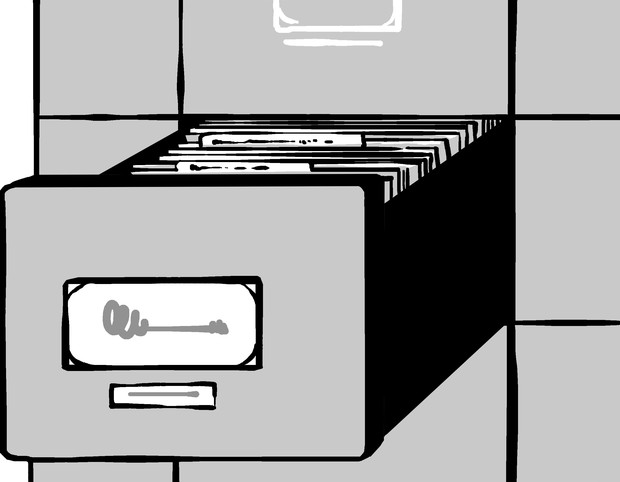 Illustration of file cabinet